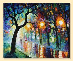 Dark Night  Limited Edition Colorful Modern by AfremovArtStudio