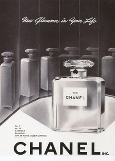 Vintage advert for Chanel No.5.