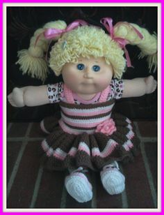 Crochet -  CabbagePatch  amp  Barbie doll clothes youtube trailer! Knitted  Dolls 275d1213206