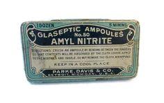 Vintage Amyl Nitrite tin  Parke Davis  Vintage by wonderdiva