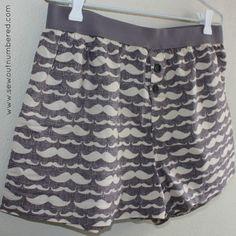 Freebie Sewing Patterns: Men's boxer shorts