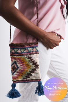 Crochet Bags Ideas Bohemian Bag - The Best Crochet Patterns of 2018 Crochet Shell Stitch, Single Crochet Stitch, Crochet World, Knit Or Crochet, Bohemian Bag, Boho, Mochila Crochet, Tapestry Crochet Patterns, Crochet Purses