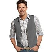 Alfani Vest, Two Pocket Cotton Vest just the vests