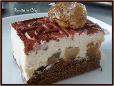 gâteau entremets choco marrons poires1