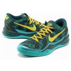 www.asneakers4u.com/ Nike Kobe 8 System Basketball Shoe Green/Yellow0