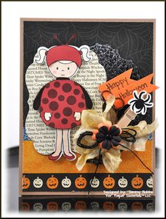 Emma Cute as a Bug for Halloween designed by Tammy Hobbs @ Creating Somewhere Under The Sun for www.PaperSweeties.com September Post Release
