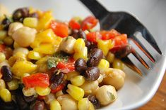 Corn and Bean Salad with Basil-Lime Vinaigrette