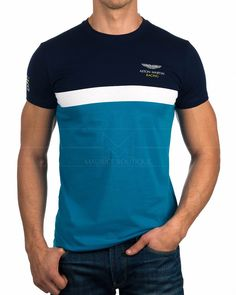 Camiseta Hackett Aston Martin - Stipe Tee | Envío Gratis Mens Polo T Shirts, Polo Vest, Boys Shirts, Tee Shirts, Camisa Polo, Custom Made T Shirts, Best Mens Fashion, Casual T Shirts, Lacoste