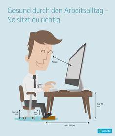 Fit im Büro! Mehr Tipps und Tricks zur Vermeidung von Verspannungskopfschmerzen und Co., erfahrt ihr im jameda Kopfschmerz-Ratgeber: www.jameda.de/kopfschmerzen