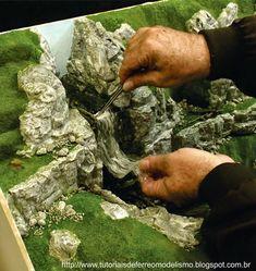 How to make diorama grass