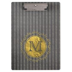 Vertical Striped Chalkboard Clipboard - monogram gifts unique design style monogrammed diy cyo customize