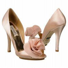 Women's Badgley Mischka Randall Light Pink Satin Shoes.com