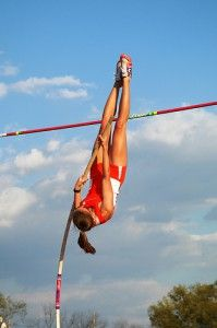 [Inspiring Story] She Is A Freshman, Fourth In Her Class, and The Best Pole Vaulter In School History. Pole Vault Training, Marissa Madison, Track Meet, Long Jump, Action Poses, Beach Girls, Track And Field, Vaulting, Sports Illustrated