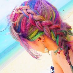 This colorful braid reminds us of the tropics!