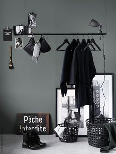DIY Hanging Clothes Rack Tutorial