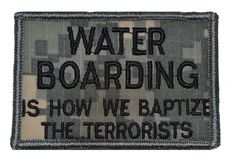Water Boarding 3x2 Police Military Morale Funny Patch - Multiple Colors - Tactical Gear Junkie