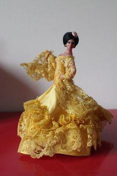 "Marin FLAMENCO Dancer Vintage 7"" Tall DOLL Chiclana SPANISH Yellow Dress | Dolls & Bears, Dolls, Clothing & Accessories, Vintage Dolls | eBay!"