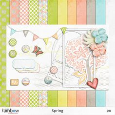Spring mini kit freebie from Rainbow Scrapbook Design via http://qualitydigiscrapfreebies.blogspot.com