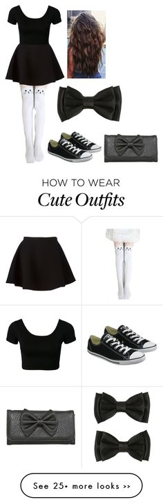 """Cute Black Outfit"" by rue2156 on Polyvore featuring Gipsy, Neil Barrett and Converse"
