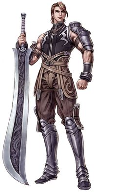 Royal Guard Jackson Conswell and his blade- Lady Light. Game Character Design, Fantasy Character Design, Character Concept, Character Inspiration, Character Art, Fantasy Male, Fantasy Armor, Fantasy Weapons, Medieval Fantasy