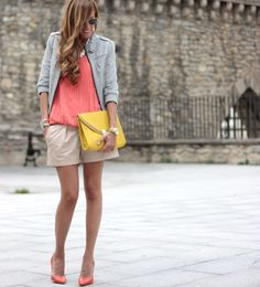 Loving the coral pumps.