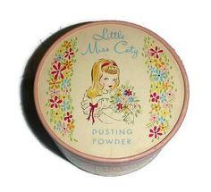 Vintage Coty Powder Box Tin 40s Little by PopcornVintageByTann