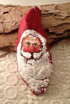 sea shells crafts ideas | Seashell oyster Santa | Craft Ideas
