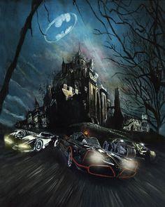 Batman - 'Chicks Love the Car' Limited Edition Aluminium Print Batman Arkham Knight, Batman The Dark Knight, Batman Vs Superman, Batman Robin, Batman Poster, Batman Artwork, Batman Wallpaper, Baguio, Dc Comics