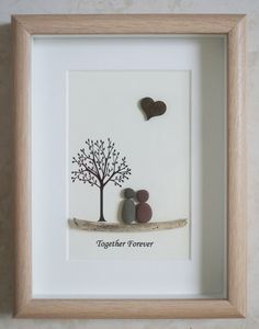 Pebble Art framed Picture Together Forever by Jewlls4u on Etsy