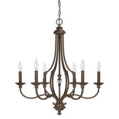 Buy the Capital Lighting Burnished Bronze Direct. Shop for the Capital Lighting Burnished Bronze Leigh 6 Light Wide Chandelier and save. Bronze Chandelier, Candle Chandelier, Candelabra Bulbs, Chandelier Lighting, Entryway Chandelier, Simple Chandelier, House Lighting, Elk Lighting, Houses