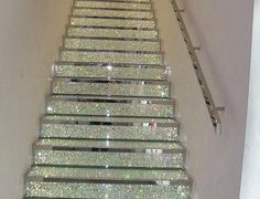 Sparkling staircase.  Over the top? OF COURSE BUT I LOVE!