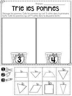 Math pour la maternelle - 15 feuilles d'activité SANS PRÉPARATION - Automne