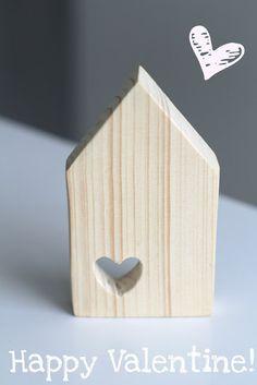 Houten huisje met hartje - &Suus  #LoveEtsyNL #Valentijn
