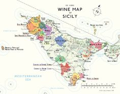 map of Sicily wine regions