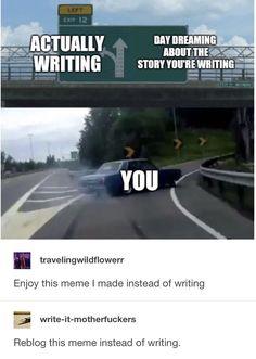 joke writing tips ; joke writing for kids ; writing a joke Writer Memes, Book Memes, Funny Relatable Memes, Funny Jokes, Hilarious, Funny Tweets, Erich Von Stroheim, Writing Problems, Maladaptive Daydreaming