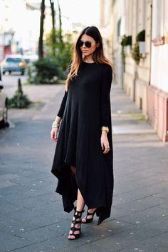Modest Black Dress, Modest Dresses, Maternity Dresses, Simple Dresses, Church Dresses, Modest Outfits, Modest Fashion, Hijab Fashion, Fashion Dresses