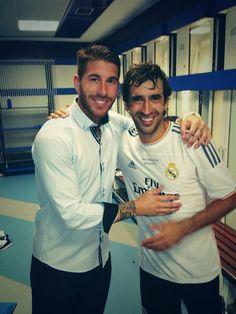 Sergio Ramos and Raúl after the match (22/8/13)