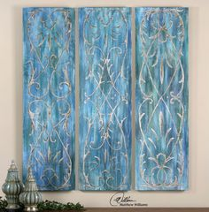 French Quarter Trellis Wall Panels S/3 from Contemporary Furniture Warehouse. Saved to home.