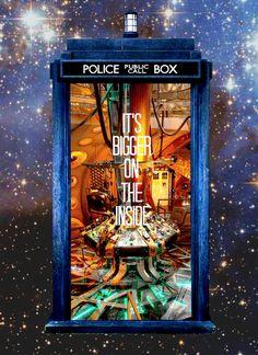 Una Tardis, para viajar a través del espacio y del tiempo.