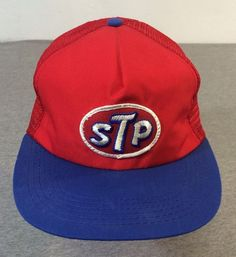 7486d4a8a33 STP 80 s Hat Vintage Snap Back Oil Treatment NASCAR Mesh Sewn Trucker USA  NWOT  BaseballCap