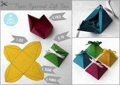 How to make beautiful paper pyramid gift box step by step DIY tutorial instructions | How To Instructions