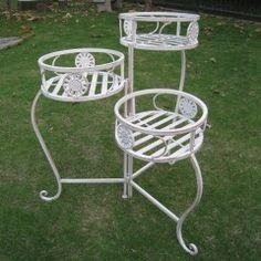 Wrought Iron Garden Trio Pot Stand