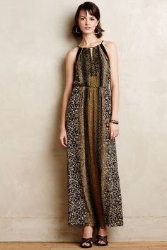 Greylin Embellished Silk Maxi Dress #anthrofave #sale