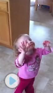 Adorable 2-Year-Old Worships the Lord