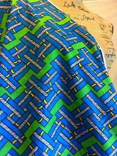 African Wax Print Fabric by the HALF YARD. Grids by MoreLoveMama, $4.95