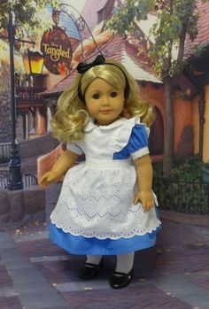 Alice, who just gets curiouser and curiouser. | 29 Incredible Character Transformations For Your American Girl Doll