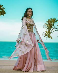 Top 15 Wedding Lehengas worn by Real Brides in Cape Lehenga, Yellow Lehenga, Lehenga Skirt, Mehndi Outfit, Mehndi Ceremony, Lehenga Designs, Mehendi, Bridal Style, Pretty Outfits