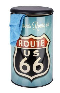 Wenko 21591100 Wäschetruhe Vintage Route 66 - Badhocker, Fassungsvermögen 54 L, Stahl