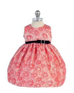 Girls Dress Style 333 - Sleeveless Floral Print Dress with Velvet Sash in Choice of Color  This dress is simply blooming with style. Every girl needs a floral print dress that she can wear to practically any event. We simply love this super cute sleeveless floral print dress because of its timeless style and beauty.  http://www.flowergirldressforless.com/mm5/merchant.mvc?Screen=PROD&Product_Code=CK_BC333CO&Store_Code=Flower-Girl&Category_Code=New
