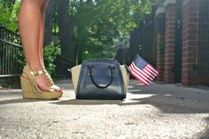 Navy Shorts & Top / Fourth of July Style